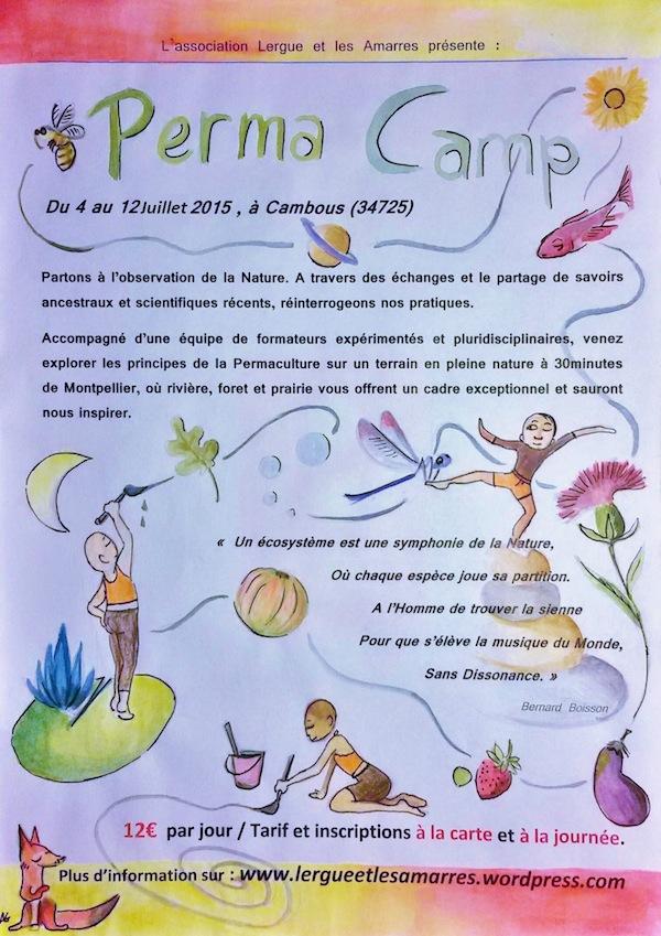affiche permacamp